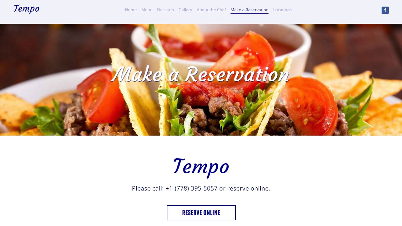 tempo reservations